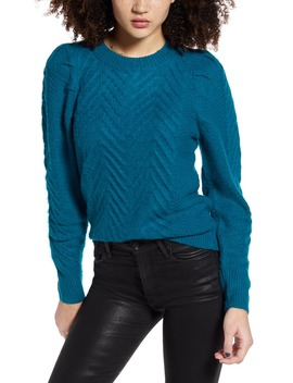 Brushed Cable Pullover by Leith