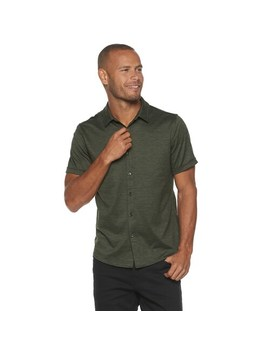 Men's Marc Anthony Short Sleeve Knit Button Front Shirt by Marc Anthony