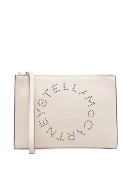 Perforated Logo Clutch Bag by Stella Mc Cartney