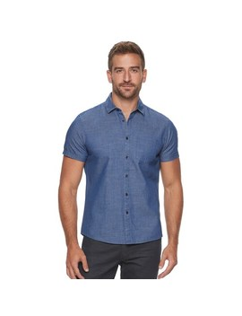 Men's Marc Anthony Printed Short Sleeve Shirt by Marc Anthony