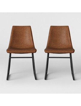 Bowden Faux Leather And Metal Dining Chair   Project 62™ by Shop Collections