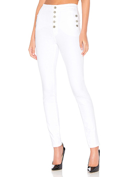 Natasha Sky High Skinny In Blanc by J Brand