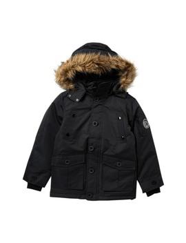 Parka Vestee Faux Fur Hooded Jacket (Big Boys) by Diesel