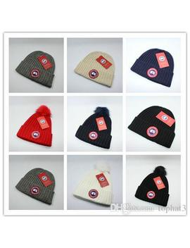 Top Sale Canada Brand Beanie Men Knitted Hat Classical Sports Skull Caps Women Casual Outdoor Goose Beanies by D Hgate.Com