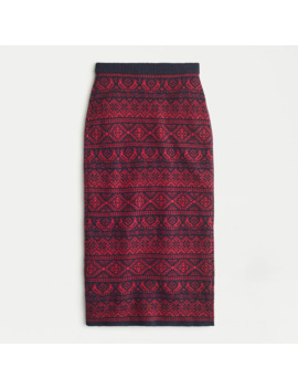 Pull On Lambswool Blend Skirt In Partridge Fair Isle by J.Crew