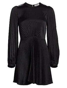 Tavi Long Sleeve Pleated Mini Dress by A.L.C.