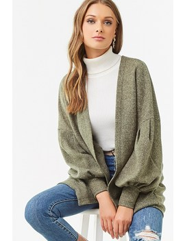 Open Front Loop Knit Cardigan by Forever 21