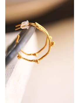 Gold Hoop Earrings Branch Earrings  Botanical Jewelry Twig Hoops Bridesmaid Jewelry Delicate Earrings Valentines Gift by Etsy