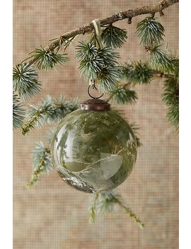 Marbled Green Globe Ornament by Anthropologie