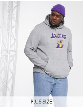 New Era – Plus – Nba Los Angeles Lakers – Grauer Kapuzenpullover by Asos