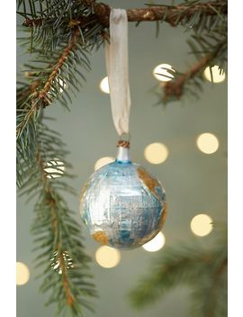 Around The World Glass Ornament by Anthropologie