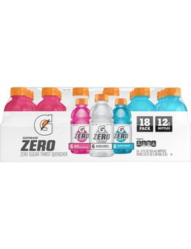 Gatorade Zero Sugar Thirst Quencher, 3 Flavor Variety Pack, 12 Fl Oz, 18 Count by Gatorade