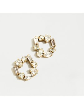 Crystal Open Circle Earrings by J.Crew