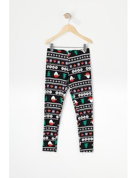 Girls Soft Merry Ugly Christmas Legging by Urban Planet