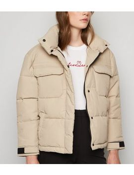 Urban Bliss Stone Crop Puffer Jacket by New Look