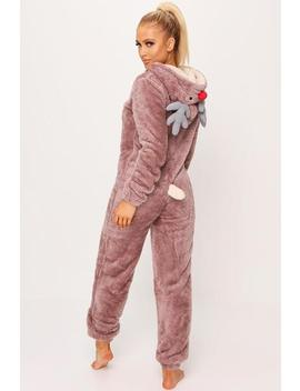 Brown Novelty Reindeer Onesie by I Saw It First