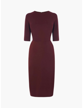 L.K.Bennett Liya Tailored Pencil Dress, Burgundy by L.K.Bennett