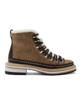 Tan Suede Compass Boots by Rag & Bone