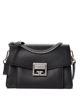 Givenchy Goatskin Small Gv3 Shoulder Bag Black by Givenchy