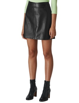 Leather A Line Miniskirt by Whistles
