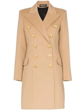 Double Breasted Wool And Cashmere Blend Coat by Balmain
