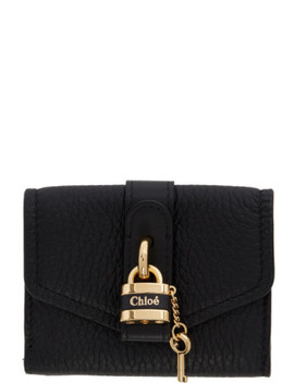 Black Mini Aby Square Lock Wallet by ChloÉ