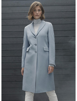 Flap Pocket Wool Overcoat by Contemporaine