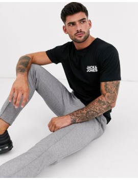 Jack &Amp; Jones Essentials T Shirt With Chest Logo In Black by Jack & Jones
