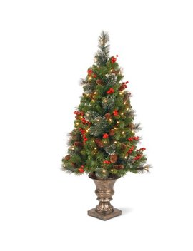 National Tree Pre Lit 4' Crestwood Spruce Entrance Tree With 50 Clear Lights by National Tree Company