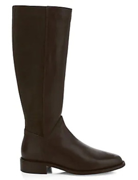 Nia Knee High Stretch Suede & Leather Boots by Aquatalia