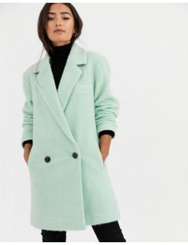 Asos Design – Lang Geschnittener, Angerauter Oversize Mantel In Minzgrün by Asos