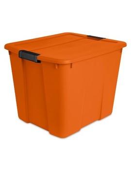 Sterilite 20gal Orange Tote With Latch by Sterilite