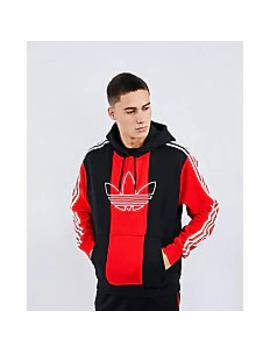 Adidas Sprt Block Stripe Over The Head   Men Hoodies by Adidas
