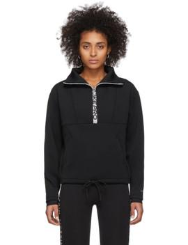 Black Crop Mock Neck Sweatshirt by Nike