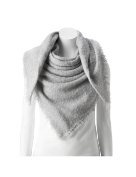 Women's Lc Lauren Conrad Shine Boucle Square Blanket Scarf by Lc Lauren Conrad