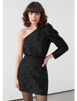 One Shoulder Jacquard Mini Dress by & Other Stories