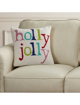 Jost Holly Jolly Hooked Pillow by The Holiday Aisle