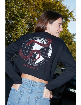 The World Is Ours Printed Sweatshirt by Subdued