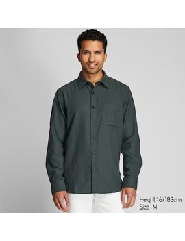 Men Flannel Regular Fit Shirt (Regular Collar) (13) by Uniqlo