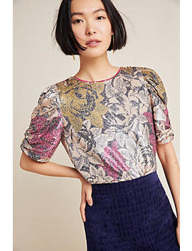 Marie Sequined Blouse by Anthropologie