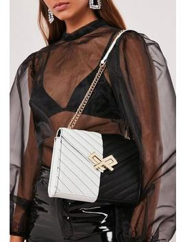 Monochrome Faux Leather Handbag by Missguided