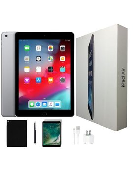 Apple I Pad Air Bundle | 32 Gb Space Gray | Wi Fi Only | Tempered Glass, Case, Stylus Pen & Charger! by Apple