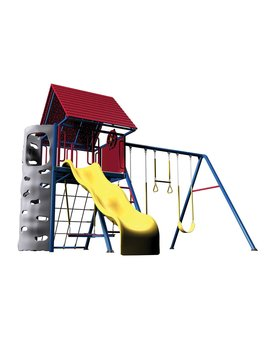 Lifetime Primary Hard Top A Frame Metal Swing Set by Lifetime