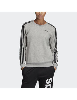 Adidas Essentials 3 Stripes Sweatshirt Women's by Adidas