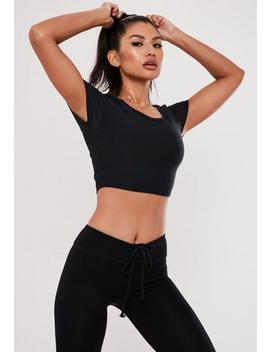 Active Pink Cross Back Gym T Shirt by Missguided