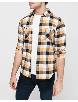 Slim Flannel Shirt by Express