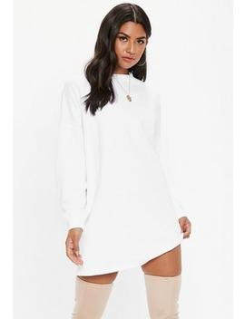 Grey Oversized Basic Loopback Sweater Dress by Missguided