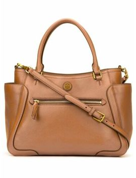 Tory Burch Frances Small Satchel In Bark Brown *Non Outlet* by Tory Burch
