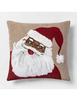 Square Santa Throw Pillow   Threshold™ by Threshold