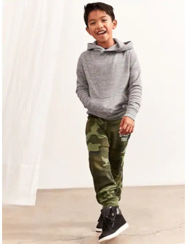 Kids Slim Fit Gap Logo Fleece Pants by Gap